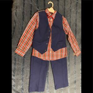 4 piece boys dress suit set